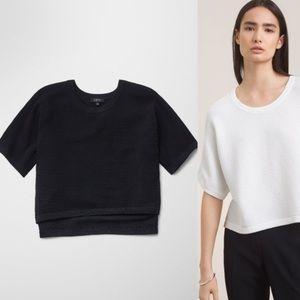 Babaton Donald Black Rib Crop Shirt/Sweater Small